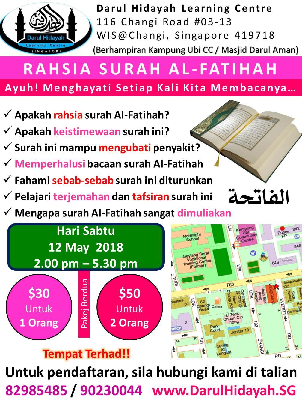 Rahsia Surah Al-Fatihah 12 May 2018