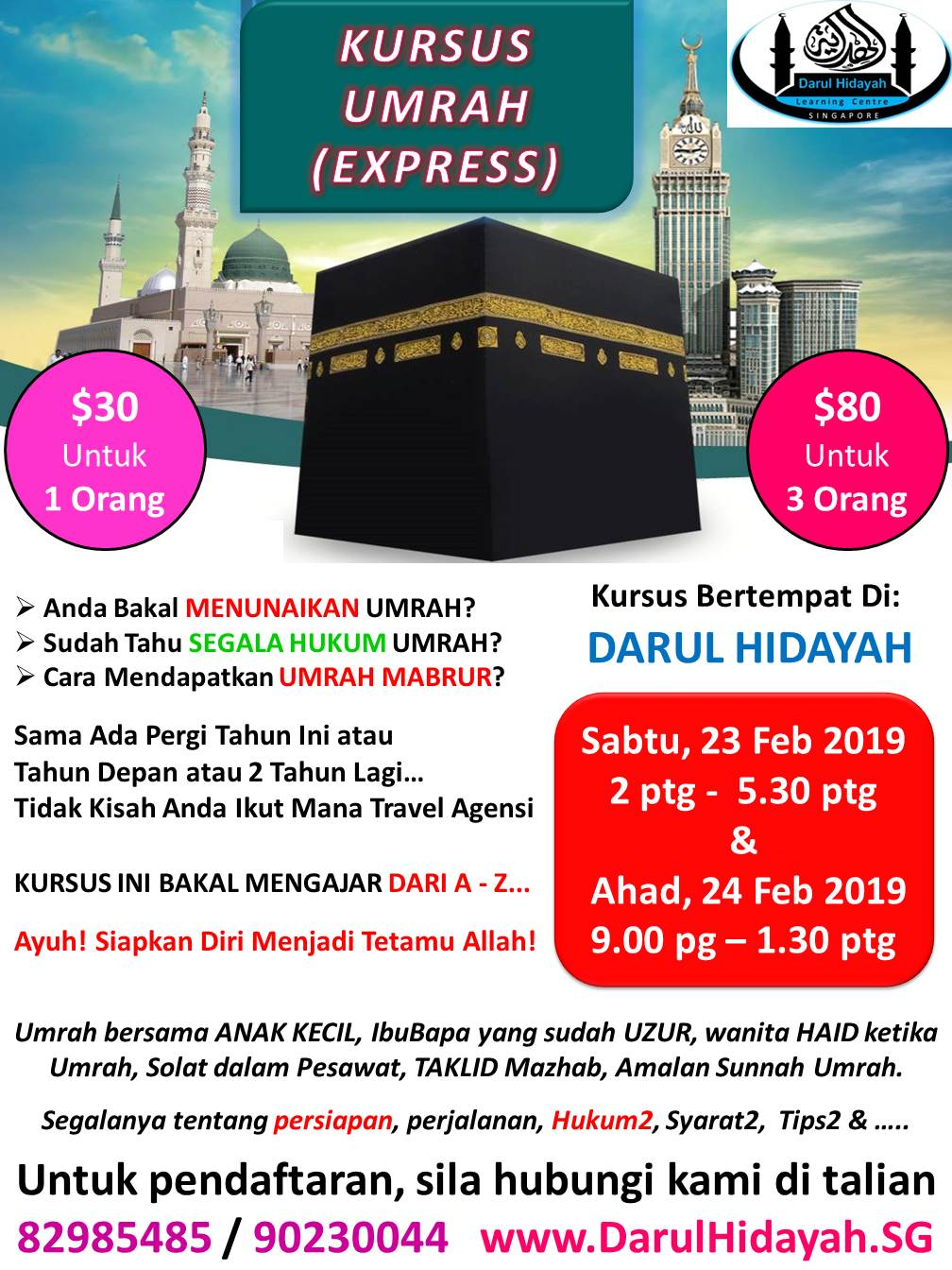 Darul Hidayah Kursus Umrah FEB 2019